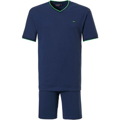 Pastunette for Men heren shortama 'cool green shark, blue all the way'