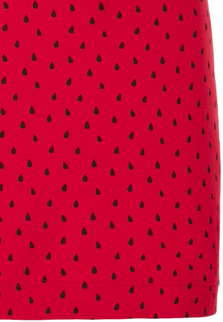 Rebelle 'fruity little water melon' fruity red Summer spaghetti nightdress with adjustable staps and all over cute 'fruity little water melon' pattern