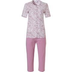 Pastunette ladies short sleeve full button cotton pyjama set 'animal magic'