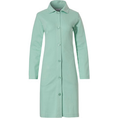 Pastunette ladies light sea green full button micro waffle morning gown
