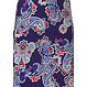 Pastunette Beach 'paisley jewels' red, white & blue long beach dress with adjustable straps and all over 'paisley jewels' pattern