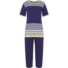 Pastunette dames pyjama met korte mouwen 'horizontale eden strepen'