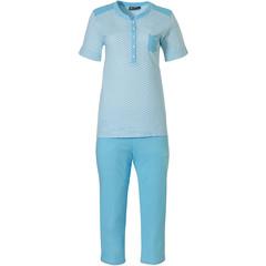 Pastunette Deluxe pyjama met korte mouwen 'Retro ZigZag'