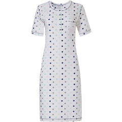 Pastunette ladies short sleeve cotton nightdress with buttons 'pretty circles'