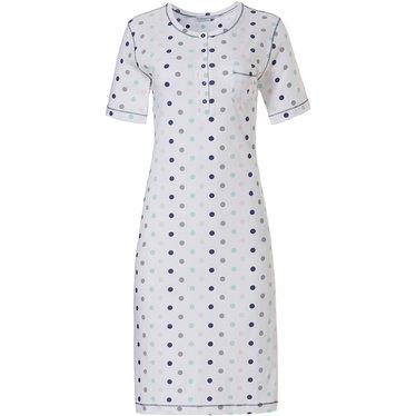 Pastunette katoenen dames nachthemd met korte mouwen en knoopjes 'pretty circles'