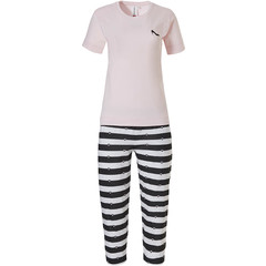 Rebelle pyjama met korte mouwen 'Miss Fashion & ♥ love to stripe it up'
