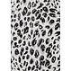 Pastunette Beach 'animal print' black & white animal print 3/4 beachdress with 3 buttons and trendy side slits