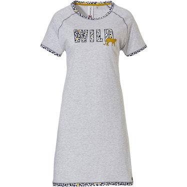 Rebelle nachthemd met korte mouwen 'Go Wild Rebelle wildcat'