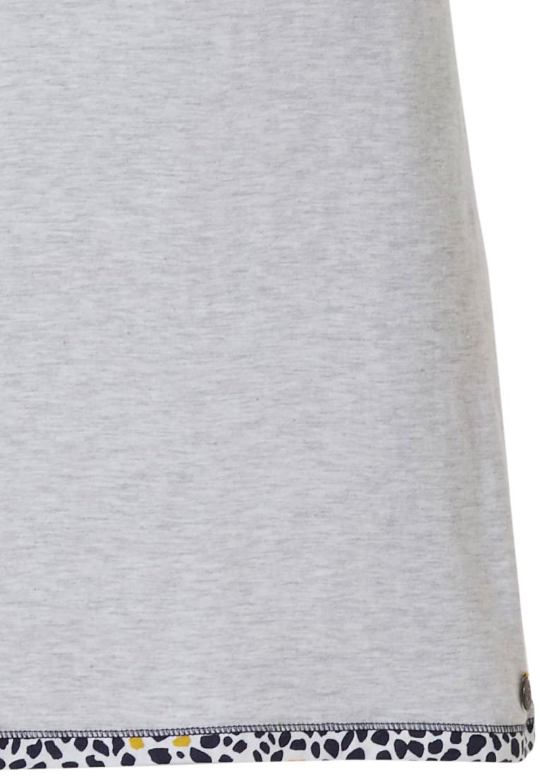 Rebelle 'Go Wild Rebelle wildcat' grey & mustard yellow short sleeve nightdress with 'Go Wild Rebelle wildcat' animal print trimmings