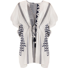 Pastunette Beach white cover-up with tie-waist 'modern holiday fashion'