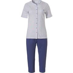 Pastunette short sleeve full buton cotton pyjama 'origami birds'