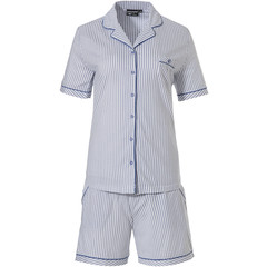 Pastunette Deluxe ladies full button short set 'just simply stripes'