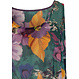 Pastunette Beach 'flowers in paradise' green, orange & purple sleeveless beach cover-up with a beautiful all over 'flowers in paradise' pattern