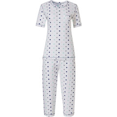 Pastunette ladies short sleeve cotton pyjama set with buttons 'pretty circles'