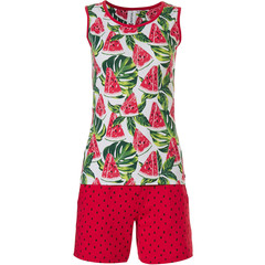 Rebelle mouwloze short set 'fruity little watermelon'