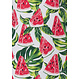 Rebelle 'fruity little water melon' white, fruity red & watermelon green sleeveless shorty set with 'fruity water melon' sleeveless top and fruity red shorts with fruity little water melon' pattern