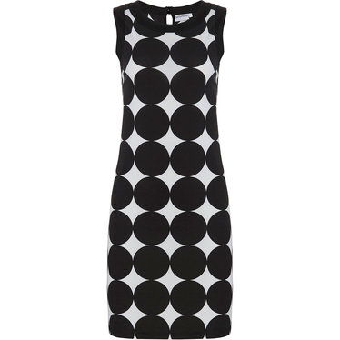 Pastunette Beach 'monochrome circles of fashion' black & white sleeveless beachdress with an all over 'monochrome circles of fashion' pattern  - Perfect 'must have' fashion statement look for your Summer wardrobe!