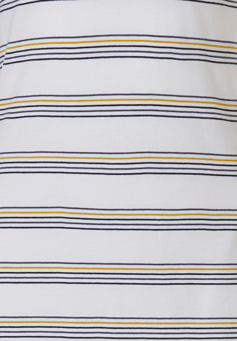 Rebelle 'buzzy honeybees' white, dark blue & yellow short sleeve cotton nightdress with cool stripes