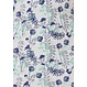 Pastunette 'spring waterflower garden' white, spring green & cyber grape organic cotton, short sleeve ladies nightdress with 3 buttons and all over pretty floral design