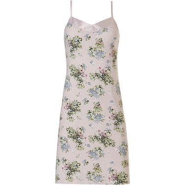 Pastunette Deluxe 'la femme fleur' romantic pink rose, 95% modal spaghetti nightdress with soft as satin trim, adjustable straps and all over 'la femme fleur' pretty floral pattern