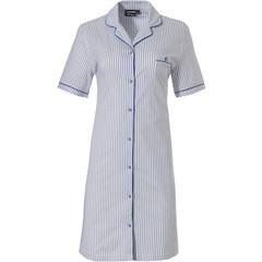 Pastunette Deluxe short sleeve full button nightdress 'just simply stripes'