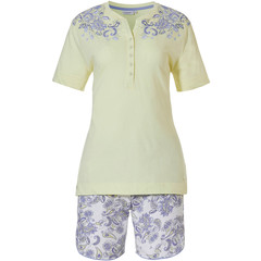 Pastunette ladies organic cotton short sleeve shorty set 'paisley dreams'