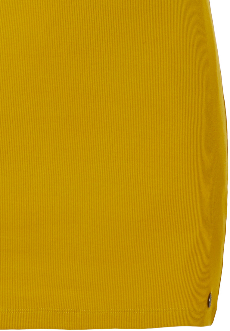 Rebelle 'cute frills Rebelle wildcat' mustard yellow sleeveless cotton ribbed nightdress with a 'cute frills' neckline from our Rebelle wildcat' selection