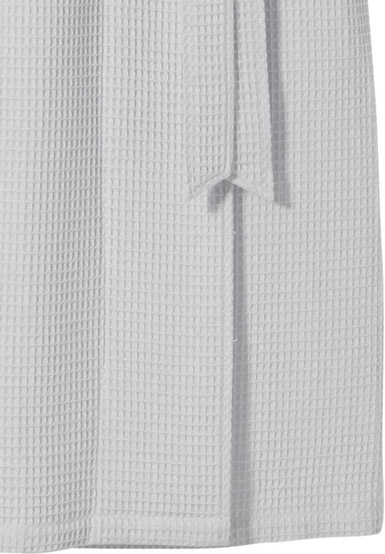 Pastunette 'square waffle design'  pure white ladies wrap-over morning gown with shawlcollar, belt and two pockets