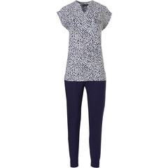 Pastunette Deluxe capped sleeve homewear set 'chic animal print'