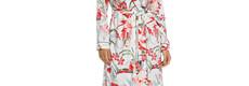 Pastunette Deluxe ladies wrap-over morningingown 'Hawaiian tropical flower'