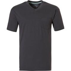 Pastunette for Men Mix & Match mens dark grey short sleeve cotton pyjama top