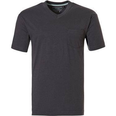 Pastunette for Men dark grey cotton short sleeved men's cotton pyjama top