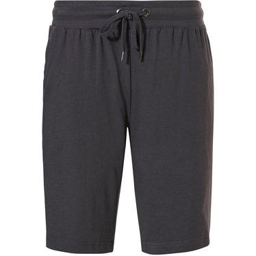 Pastunette for Men donkergrijze, katoenen, korte pyjama broek voor heren met een elastische taille met aantrekkoord