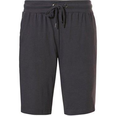 Pastunette for Men men's dark grey cotton shorts with an elasticated tie-waist