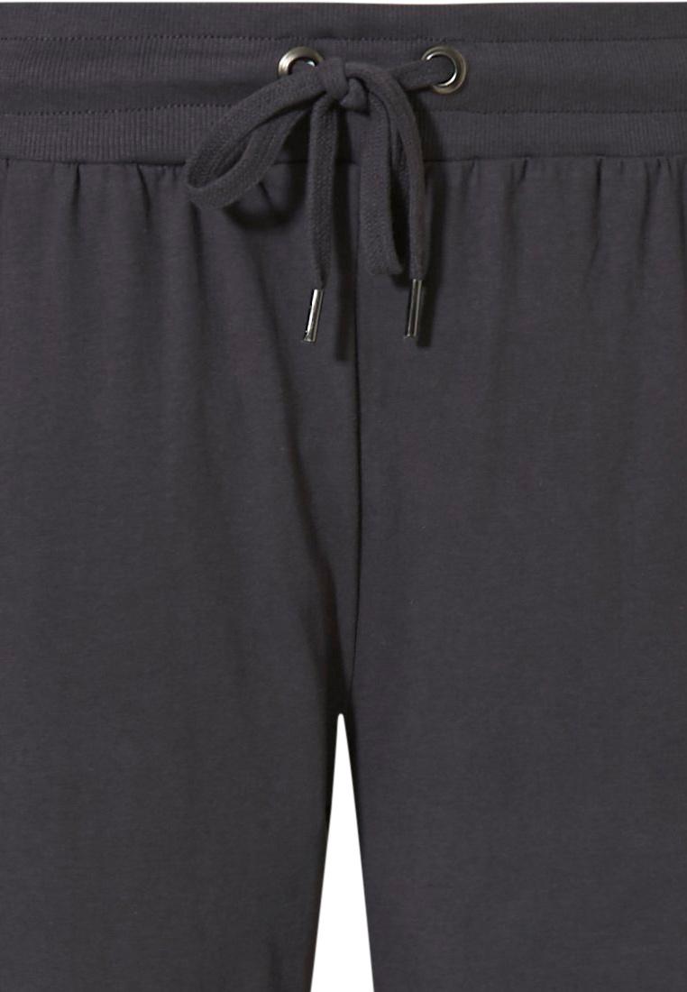 Pastunette for Men dark grey Mix & Match lounge-style men's cotton pyjama shorts with an elasticated tie-waist