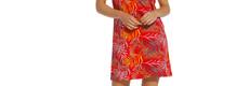 Pastunette katoenen nachthemd met korte mouwen 'pretty passion red'