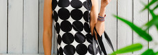 Pastunette Beach 'monochrome circles of fashion' sleeveless beachdress