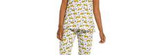 Rebelle trendy 'Rebelle wildcat' short sleeve cotton 3/4 pyjama set