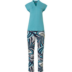 Pastunette Deluxe ladies capped sleeve homewear set '70's groovy style fashion'