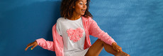 Rebelle nachthemd met korte mouwen 'pretty pink heart blooms ♥'