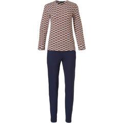 Pastunette Deluxe luxe pyjama met lange mouwen 'geometric macro art'