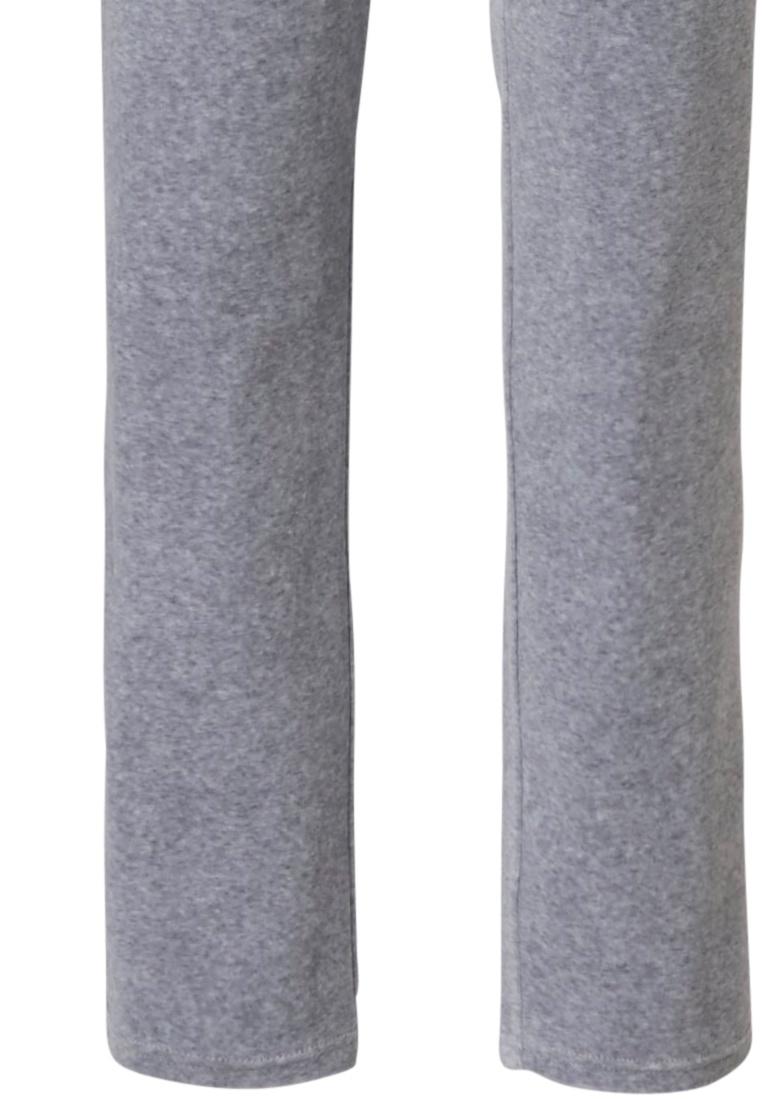 Pastunette 'grey comfort' grey velvet homesuit with full zip, detailed collar, cuffs, two pockets and long velvet pants