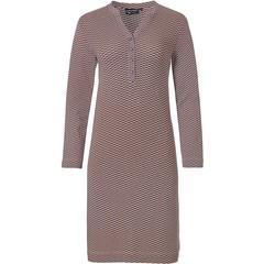 Pastunette Deluxe luxe nachthemd met lange mouwen en knoopjes 'geometric micro art'
