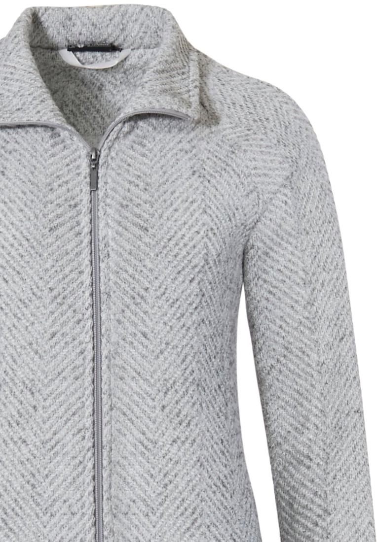 Pastunette Deluxe luxe, stijlvol huispak met rits 'herringbone fashion'