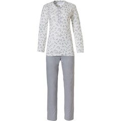 Pastunette ladies classic pyjama set with buttons 'pretty bamboo leaves'