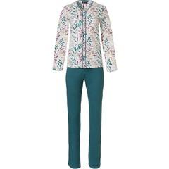Pastunette Deluxe ladies cotton-modal pyjama set 'pretty little leaves'