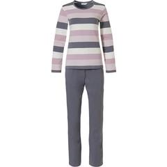 Pastunette dames pyjama met lange mouwen 'mixed bold stripes'