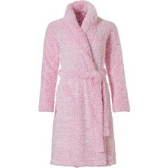 Rebelle Girls girls fleecy wrap-over dressinggown 'fluffy pink'