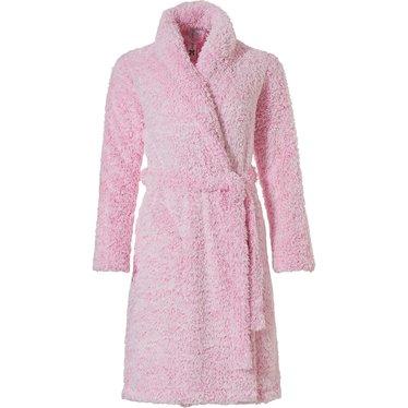 Rebelle Girls fleece overslag badjas 'fluffy pink'