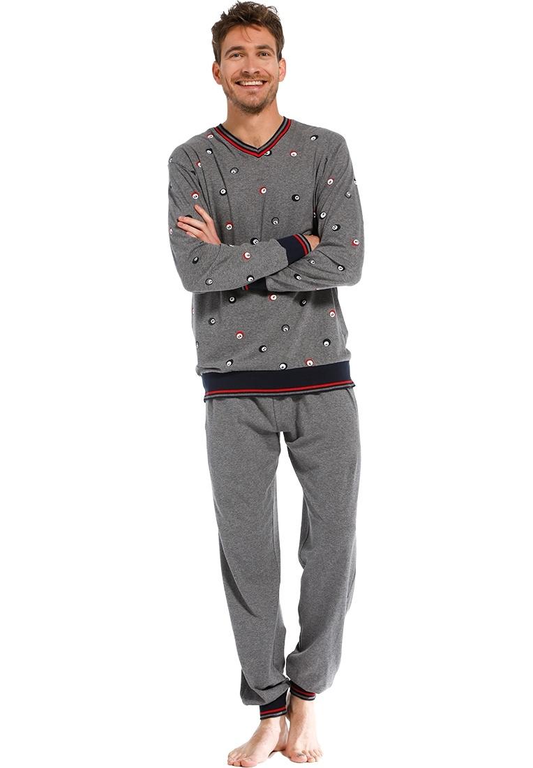 Pastunette for Men heren v-hals pyjama '8 ball billiards'